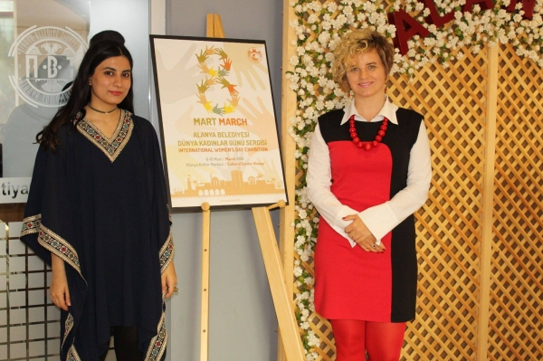 On the occasion of the International Women's Day (8th March) Alanya Municipality organised an art exhibition