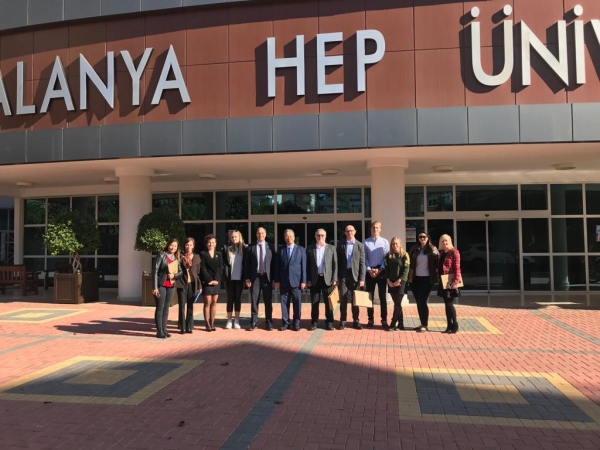 On 8 December 2018 Alanya HEP University was visited by two special guests from Finland - Esko Lotvonen (the Mayor of Rovaniemi) and Mikko Holma (the Principle of partner school).